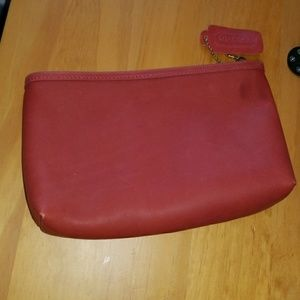Coach Leather Vintage Zippered Pouch